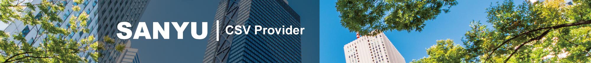 SANYU CSV Provider